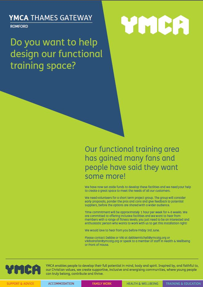 functional training poster
